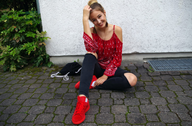Boho and red Sneaker love