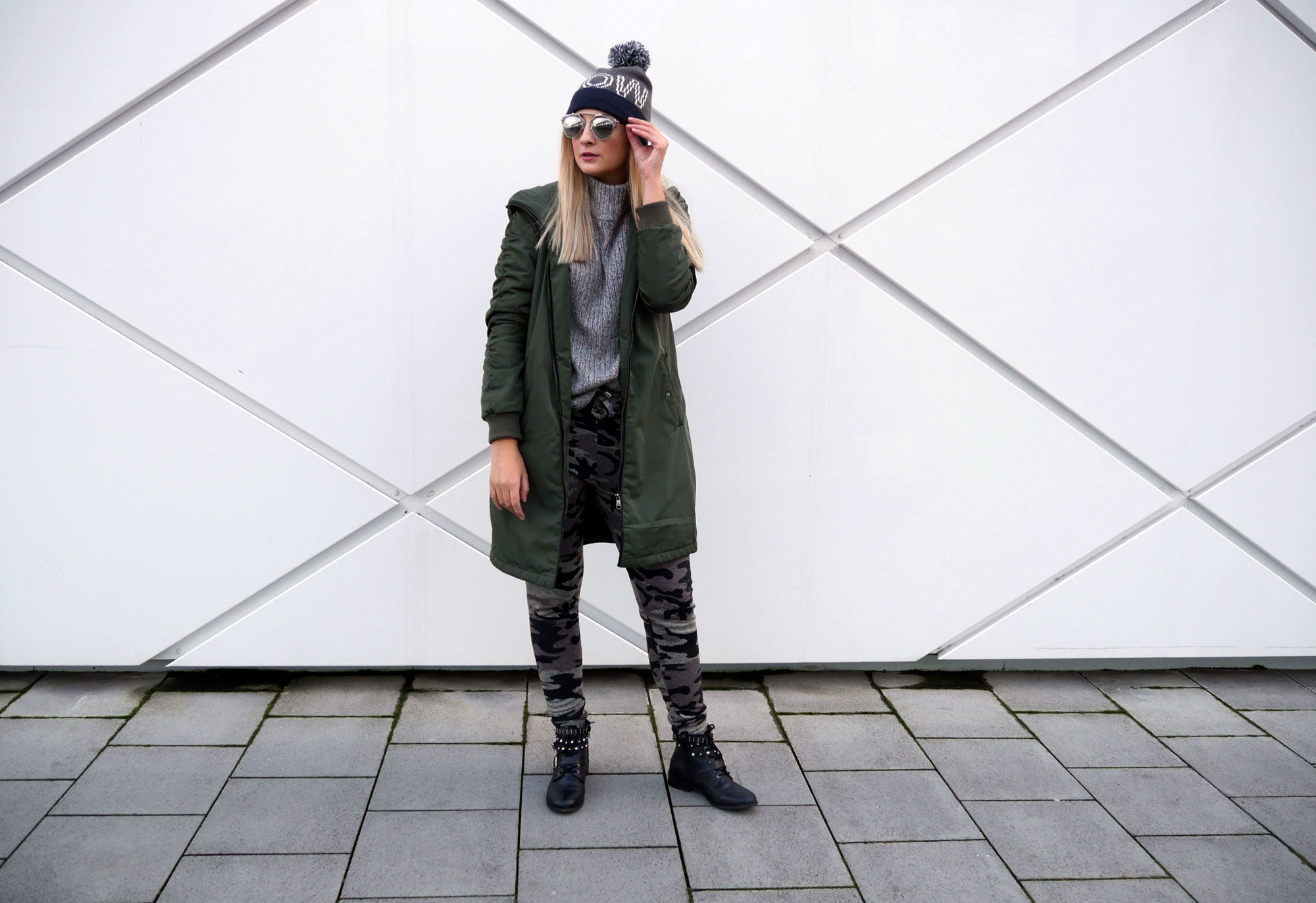 Khaki Love: Parka and Camouflage Jogger